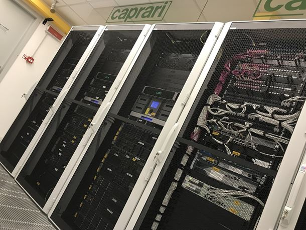 Caprari's upgraded server will ensure customer reliability.