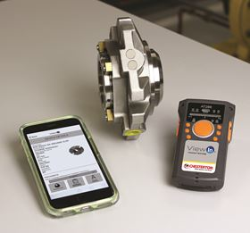 Each ViewIn-enabled Chesterton seal is equipped with Radio-frequency identification (RFID) tags that can be read using a Bluetooth-connected RFID reader.