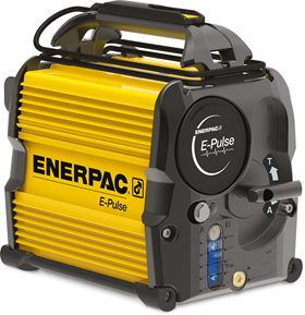 Enerpac's new E-Pulse electric hydraulic pump has smart controls and maintains constant motor power across the pressure range.