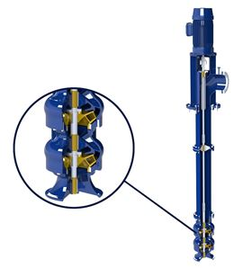 Figure 1. A vertical pump's impeller design can greatly affect the discharge pressure and overall operating performance.