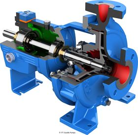 The ITT Goulds Pumps ICO Open Impeller i-FRAME pump series is an ISO process pump with i-ALERT2 intelligent monitoring.