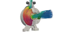 CFD simulation of an industrial pump (Source: SimScale)