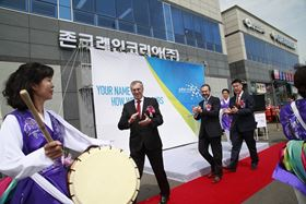 Celebrating the opening of John Crane's new service centre in South Korea.