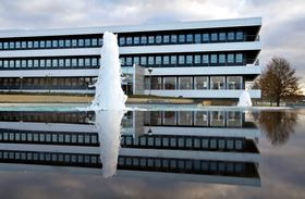 4 and 5. Grundfos headquarters in Bjerringbro, Denmark.