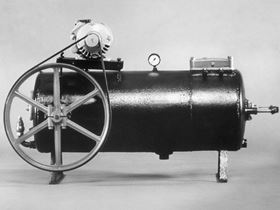 Foss 1, often called 'the Pig', was the first Grundfos pump built in 1945.