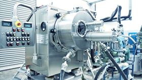 Krauss-Maffei peeler centrifuge equipped with the recently launched pneumatic discharge system.  (Image: ANDRITZ)