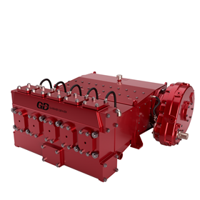 The pump features an extremely high flow rate of more than 1000 gpm, making it suitable for demanding HDD projects.