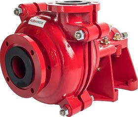 Flowrox CF-S centrifugal pump is designed for pumping applications of corrosive and abrasive slurries.