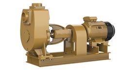 The self-priming coupled pumpset offers high efficiency with low lifetime operating costs.