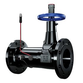 Using ultrasonic sensors, the two new valve series offer shut-off, balancing and measuring functions all in a single valve. Image: KSB.