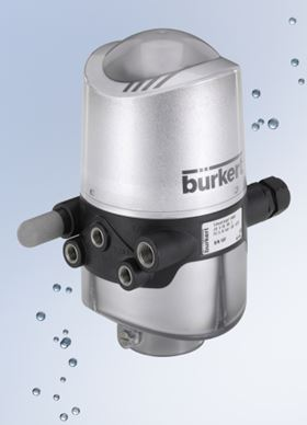 Control head 8681 for decentral automation of hygienic process valves.