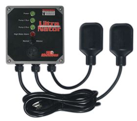 The Ultra Nator control and alarm system for duplex sump pump applications.