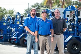 The Thompson Pump family: (l-r) Bobby Thompson, regional manager; Bill Thompson, chairman; and Chris Thompson, president.