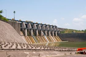 The Srisailam Dam, Andhra Pradesh. (Image courtesy of shutterstock.com)