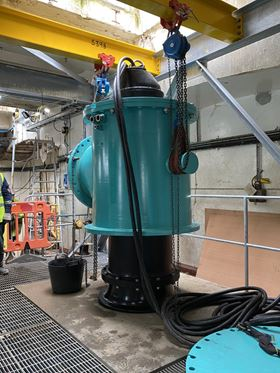 The pumpsets will be used to extract river water for the dilution of off-cast brine in the chemical process.