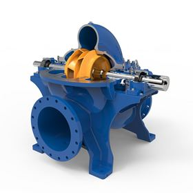Five ANDRITZ double-flow axial split-case pumps from the ASP series are general booster pumps. As a part of the main process, they move the filtered seawater to the high-pressure pumps.