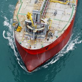 Close-up of the bow of Polvo. Photo: BW Offshore.