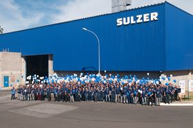 Sulzer employees celebrate 70 years in Brazil. Image copyright Sulzer.