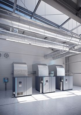 The new GA 90+-160 VSD+ oil-injected screw compressor range from Atlas Copco provides reduced energy consumption, straightforward installation and simple service.