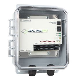 The Sentinel PRO system provides water and wastewater facility operators 24/7 remote monitoring.