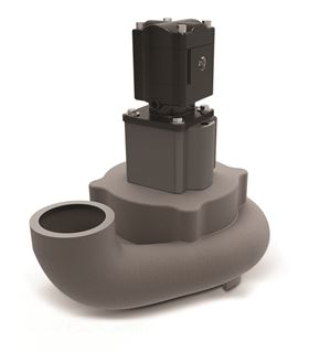 Submersible Overhung Load Adaptors (OHLA's) from Zero-Max (mounted between motor and pump in photo) are available for underwater applications.