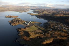 The research and eduction centre, Scottish Association of Marine Science (SAMS), is based near Oban in Argyll.