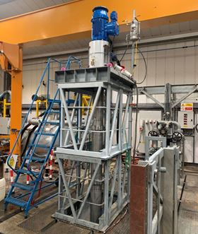 An Amarinth API 610 VS4 vertical pump undergoing final testing before delivery to ISCCO.