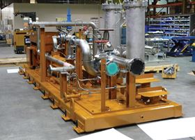 Figure 1. The integrated unit contains a fuel oil system, pump, motor, base plate and piping – all in a single package.