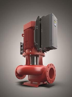 VACON® 20 Cold Plate integrated with Kolmeks' updated family of in-line pumps with 7.5 kW (3-phase) motor.
