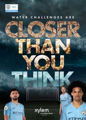 Manchester City stars kick off Xylem's 'Closer Than You Think' campaign