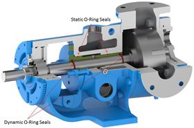 The OSB ring seal has been designed to stop chocolate (and other similar foods) from leaking out along the pump shaft.