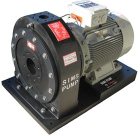 A SIMSITE horizontal fire pump.