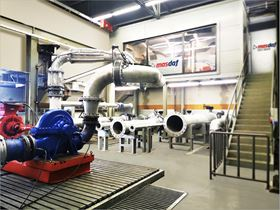 The newly developed Pump Performance Test Station has the latest measuring devices and a fully automated control system.