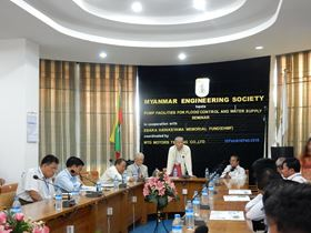 The Ebara seminar in Myanmar.