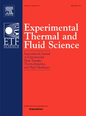 Elsevier journal Experimental Thermal and Fluid Science.