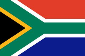 South African flag.Image courtesy of Thomas Pajot/Shutterstock.com.