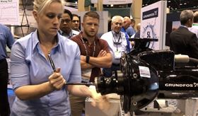The Grundfos booth highlighted both traditional and digital offerings.