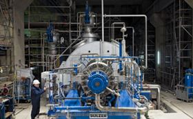 A boiler-feed pump built and installed by Sulzer Pumps