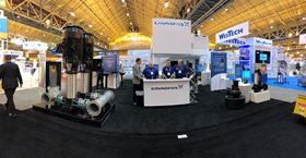 The Grundfos booth at WEFTEC.