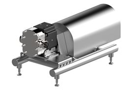 The new Hilge Novalobe 60 from GEA, can pump large quantities at low speed.