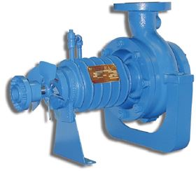 A shaft mounted fan provides air flow over the cooling fins of the CECO Dean RA pump. This eliminates the need for external water cooling for the bearings and mechanical seal.