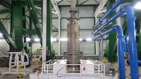 A design with a double-suction submersible pump can fully compensate for the axial thrust and convey 530 cubic meters of water per hour from the depths of the former German mine over a head of 830 m.