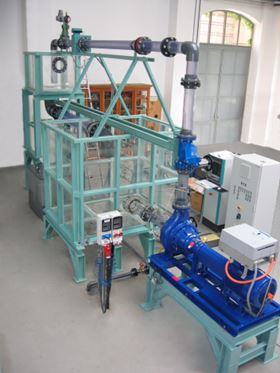 Figure 1: A complete one-third sized sewage pumping station for research.