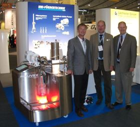 The Mouvex Product Recovery Demo Unit was on display in the UNI-FÖRDERTECHNIK GmbH (UNI-F) booth at Innovation Food 2014 in Stuttgart this June. UNI-F is Mouvex's German distributor.