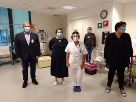 Health workers at San Luca Hospital in Italy benefited from 250 face shields delivered in partnership with the nonprofit organisation La Città delle Donne.