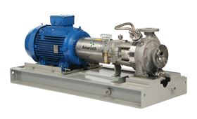 An Amarinth API 610 OH1 pump with API Plan 11 seal system.