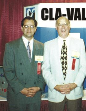 Pumps of the past and the future: Realizing its potential, former owner Greg Madia (L: pictured here with founder Bill Weil) sold the company to PumpMan to help provide the resources and support needed to take the company to the next level.