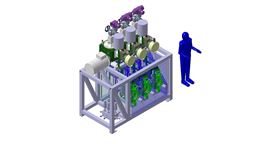 The Lewa remote head pumps are intended to cool a variety of detectors using liquid CO2 as part of the ATLAS and CMS experiments. Source: CERN.