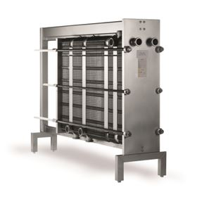 The Alfa Laval FrontLine gasketed plate heat exchanger.