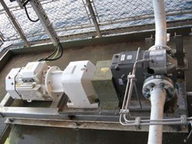 Waukesha 220U2 pump for produced water at a platform in the North Sea.